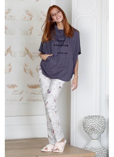 Hays Kadın Penye Uzun Pijama Takımı Mor